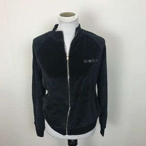 Bebe Black Velour Jacket Coat